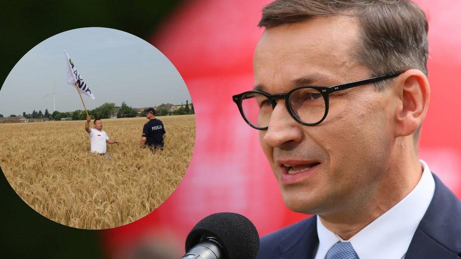 Agrounia przerwała wizytę Morawieckiego w Wielkopolsce