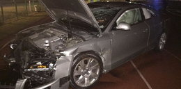Wypadek w Opolu. Wjechał autem na stadion