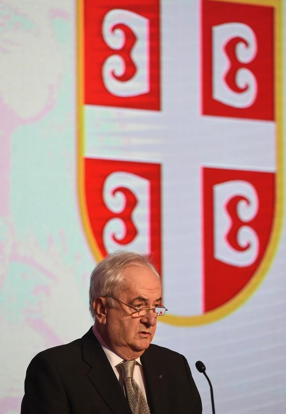 Božidar Maljković na svečanosti u Domu narodne skupštine Srbije