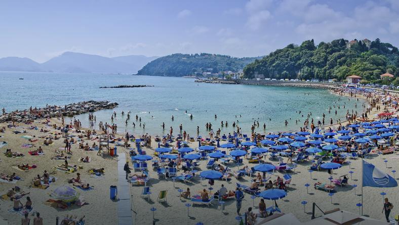 Włochy - plaża w Lerici