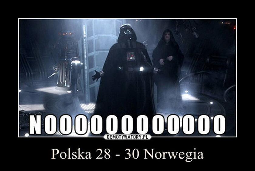 Polscy szczypiorniści polegli z Norwegią. ZOBACZ MEMY