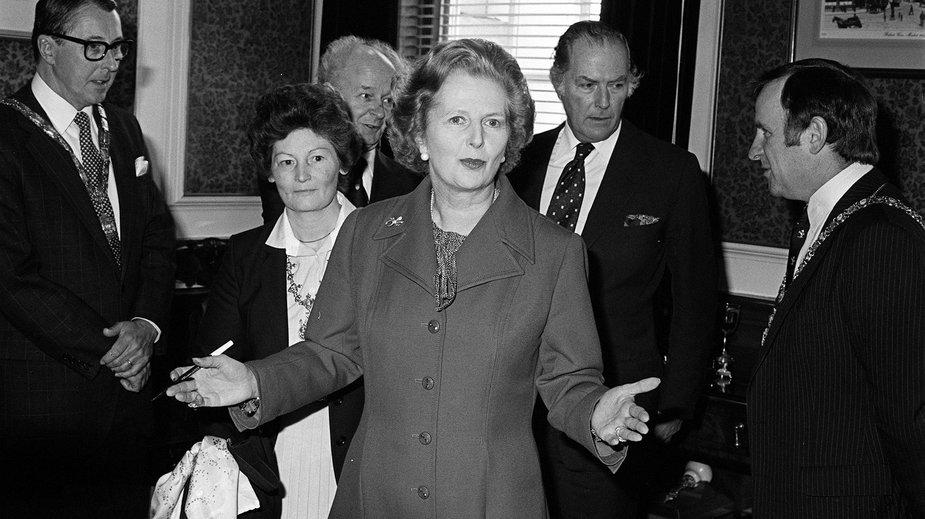 Margaret Thatcher podczas wizyty w Belfaście w 1981 r.