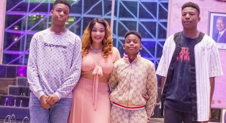 Zari Hassan with her Kids