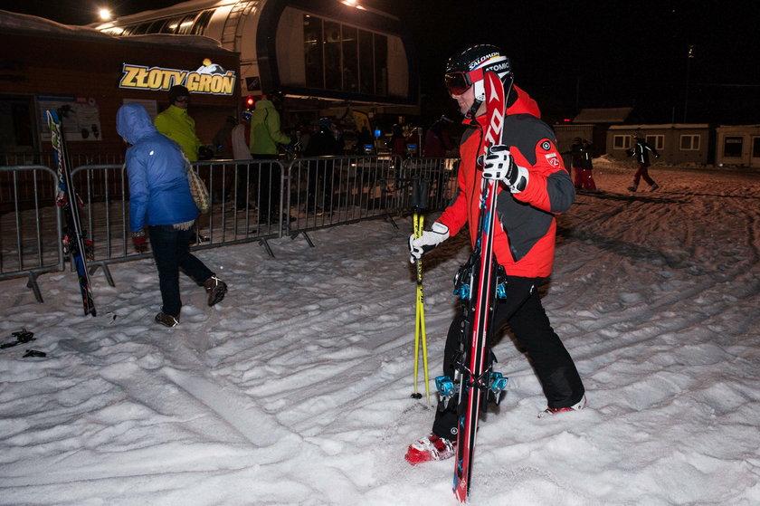 Andrzej Duda na nartach