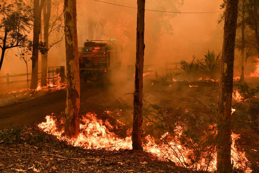 Bushfires continue to burn in New South Wales, Australia