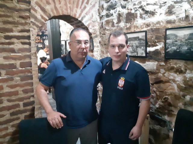 Predsednik KK Prokuplje Vule Vuković i njegov sin Čedomir, direktor kluba