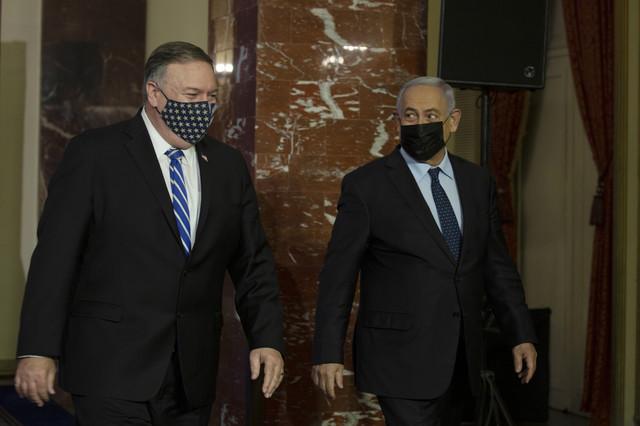 Majk Pompeo i Benjamin Netanjahu