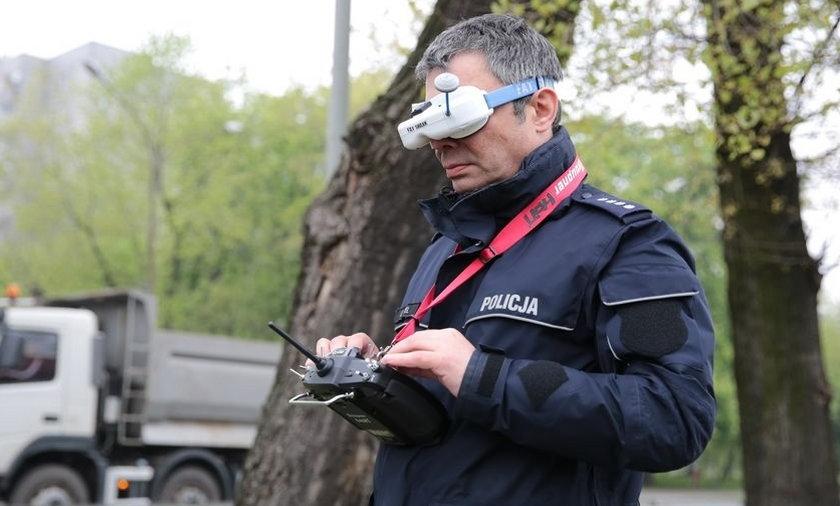 Dron policjant