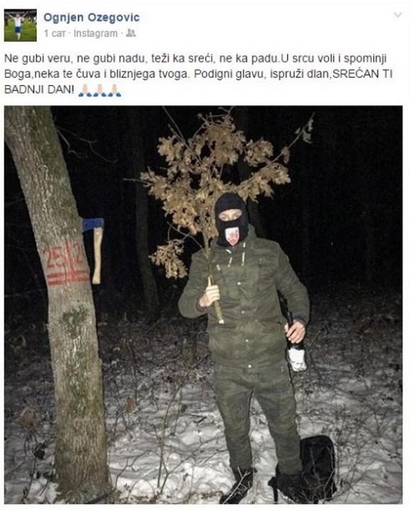 Ognjen Ožegović i kapuljača sa Zvezdinim grbom
