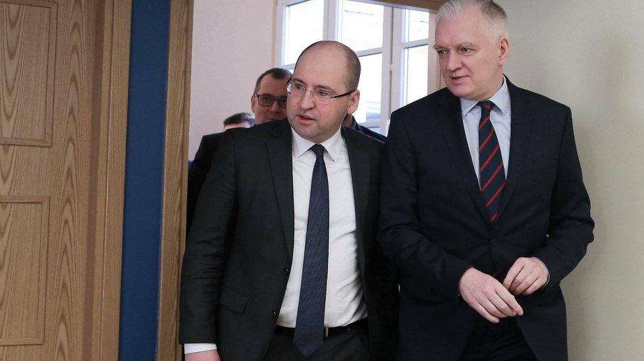 Adam Bielan i Jarosław Gowin w Płocku, 8.02.2019 r.