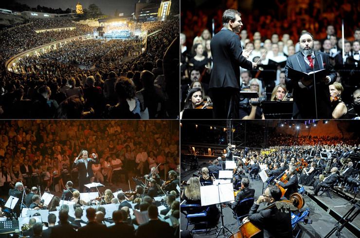 KOLAZ karmina burana Noć muzike 2018 Tašmajdan