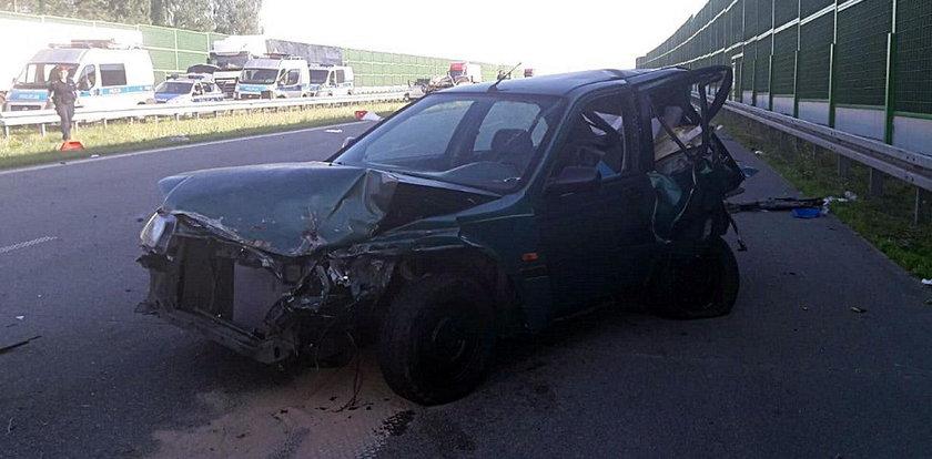 Policja szuka sprawców wypadku na A1 pod Łodzią