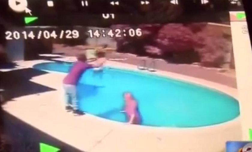 Wrzucił 2-letnią córkę do basenu