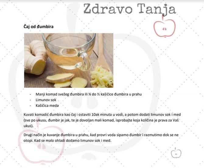 Recept za napitak od đumbira