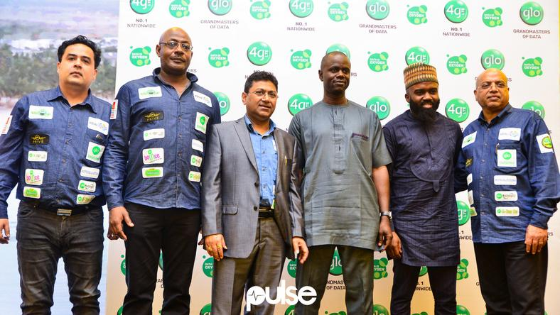 Globacom executives, Noble Igwe at Glo unveil event which held at Eko hotel & suites, Victoria Island Lagos on Friday, February 1, 2019.