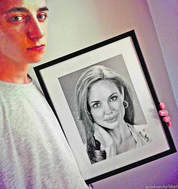 Realistično koliko i fotografija: Aleksandar Ilić sa portretom Anđeline Džoli