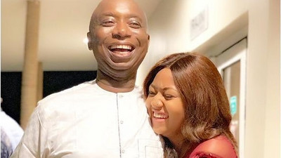 Billionaire Ned Nwoko shares lovely photos of his wife Regina Daniels and their son Munir on Instagram