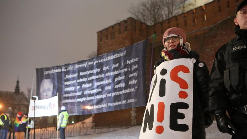 Demonstracja pod Wawelem