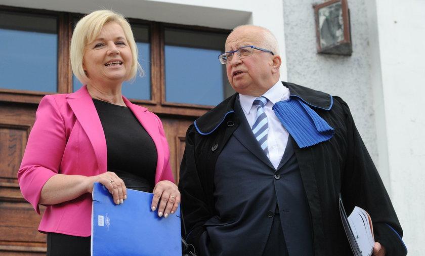 Senator Lidia Staroń i mecenas Lech Obara