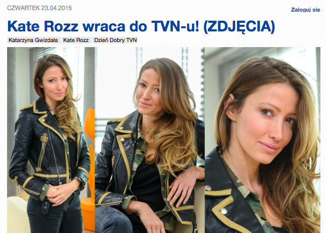 Kate Rozz, fot. screen z pudelek.pl