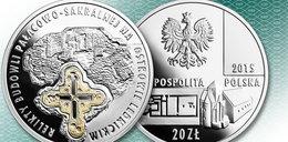 Okoliczna moneta z zabytkami z Ostrowa Lednickiego