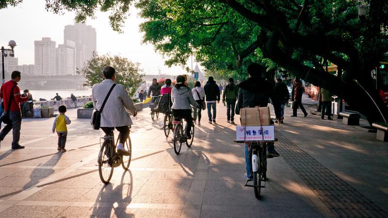 Chińscy rowerzyści