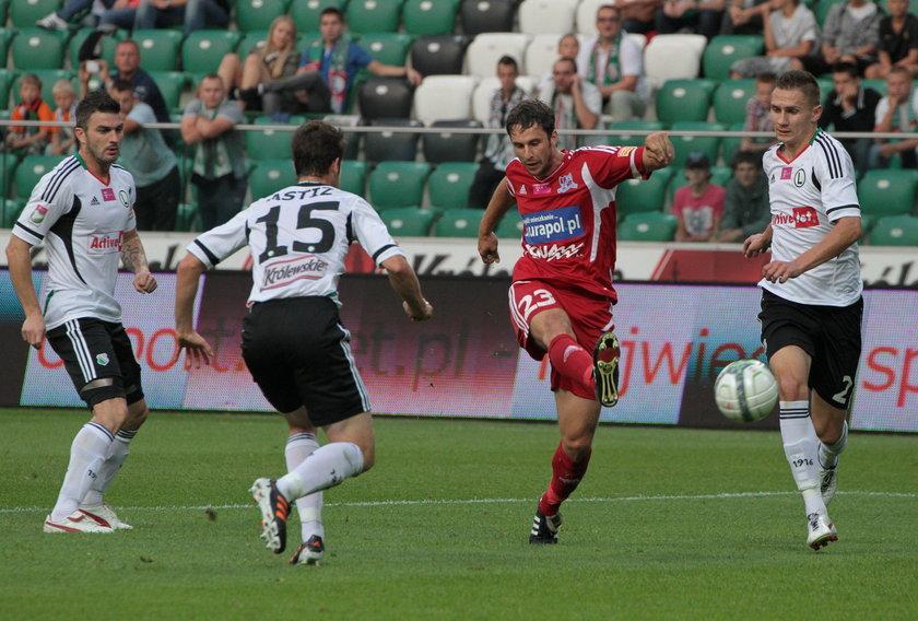 Fragment meczu Legia Warszawa –Podbeskidzie Bielsko-Biała