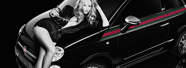 Fiat 500 by Gucci z Natashą Poly Fot. Fiat