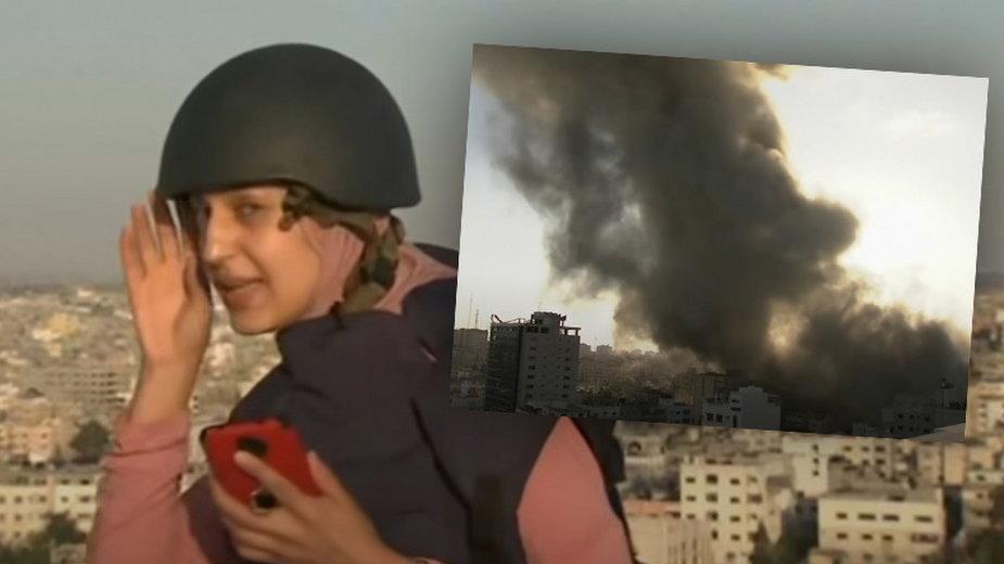 Relacjonowała wydarzenia w Strefie Gazy, aż pocisk trafił w sąsiedni blok