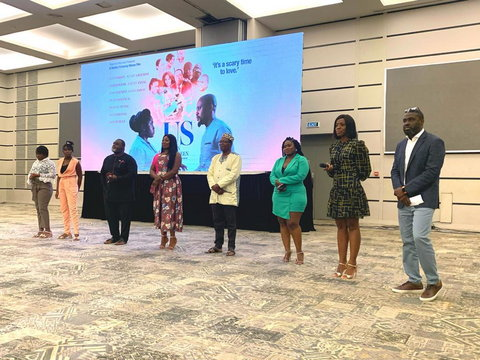Gloria Sarfo, David Dontoh, Lydia Forson, Shirley Frimpong-Manso and Ken Attoh at the private screening of IN BETWEEN US