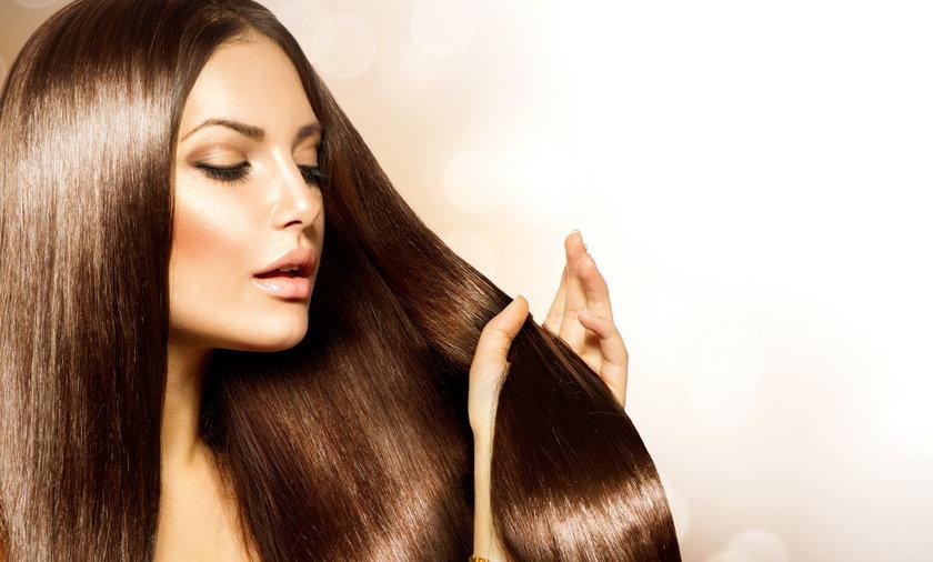 kobieta, piękne włosy, lśniące