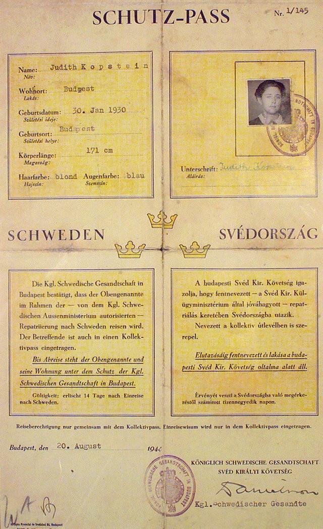 Ovako su izgledala švedska dokumenta koja je Valenberg izdavao Jevrejima