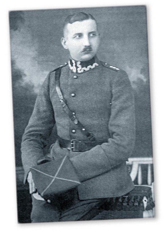 Kpt Władysław Gabler, komendant szpitala wojskowego w Strzałkowie