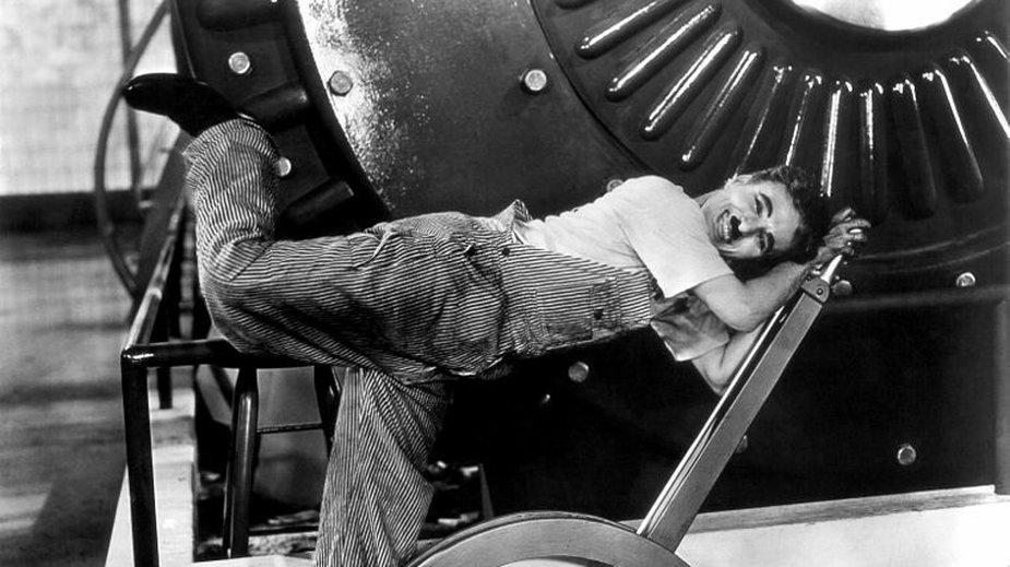 Chaplin na planie filmowym - domena publiczna