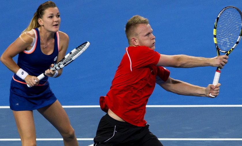 Agnieszka Radwanska i Grzegorz Panfil