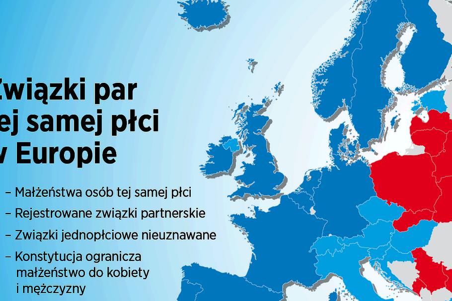 Tęczowa Europa Gdzie Uznaje Się Małżeństwa Lgbt Mapa