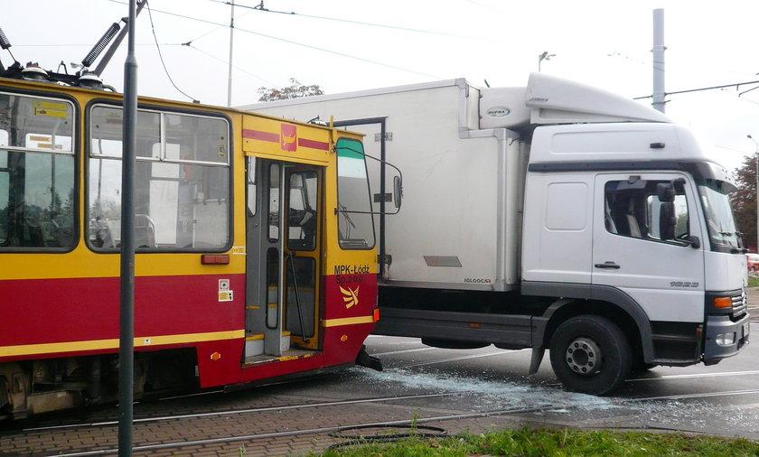 Wypadek z tramwajem w Łodzi