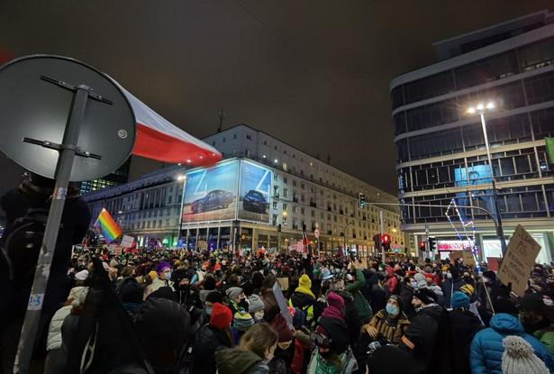 Strajk Kobiet w Warszawie, 29.01.2021.