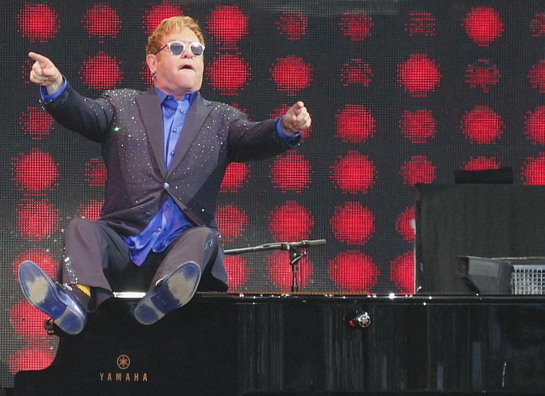 Elton John podczas koncertu na Life Festival Oświęcim 2016
