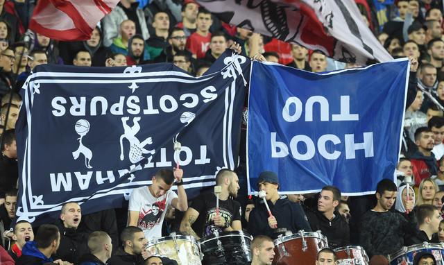 Detalj sa meča FK Crvena zvezda - Totenhem