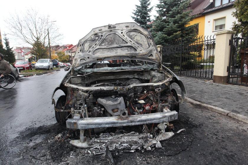 Podpalenie przy ul. Raciborskiego
