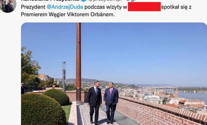 Prezydent Andrzej Duda na Węgrzech.