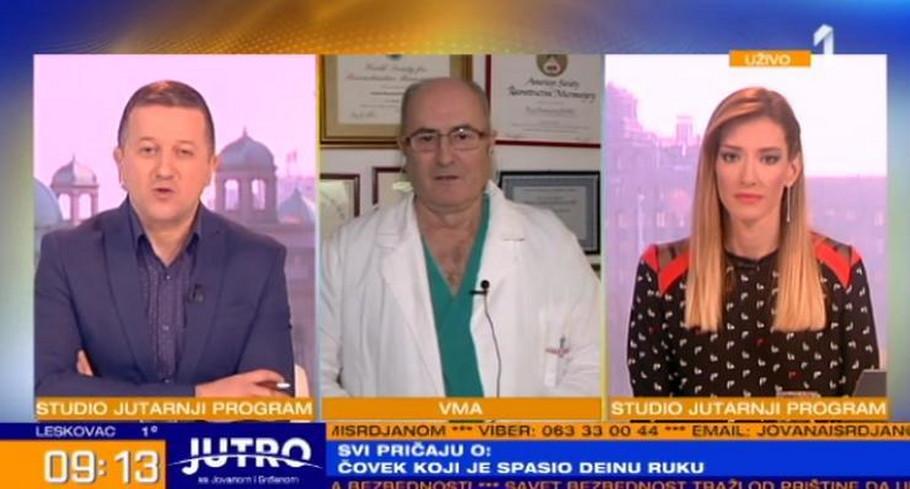 """Doktor Marko Bumbaširević gost jutarnjeg programa """"Prve"""""""