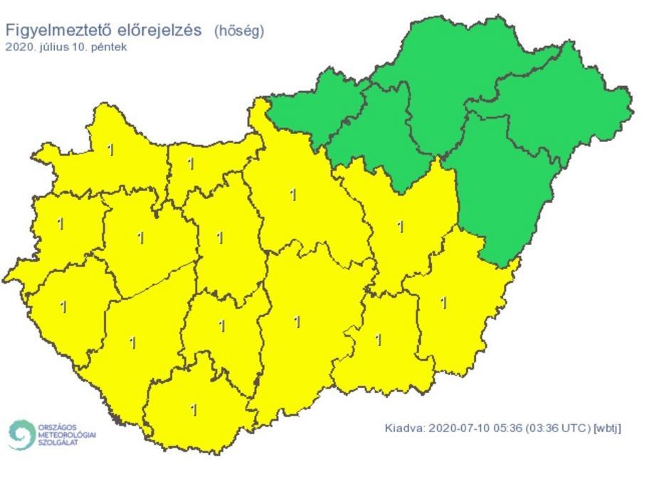 Szinte az egész ország területén hőségre lehet ma számítani /Fotó: met.hu