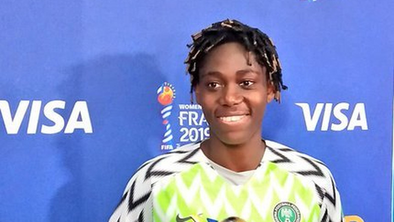 Asisat Oshoala pulled off a Women of the Match performance as Nigeria beat South korea 2-0 in a 2019 FIFA Women's World Cup (Twitter/FIFAWWC_NGA)