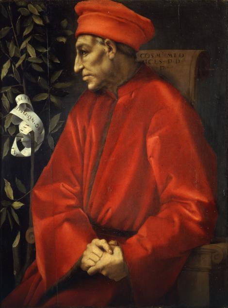 """Prva knjiga posvećena je Kozimu de' Medičiju (1389-1464) rodonačelniku dinastije i """"Ocu nacije"""""""