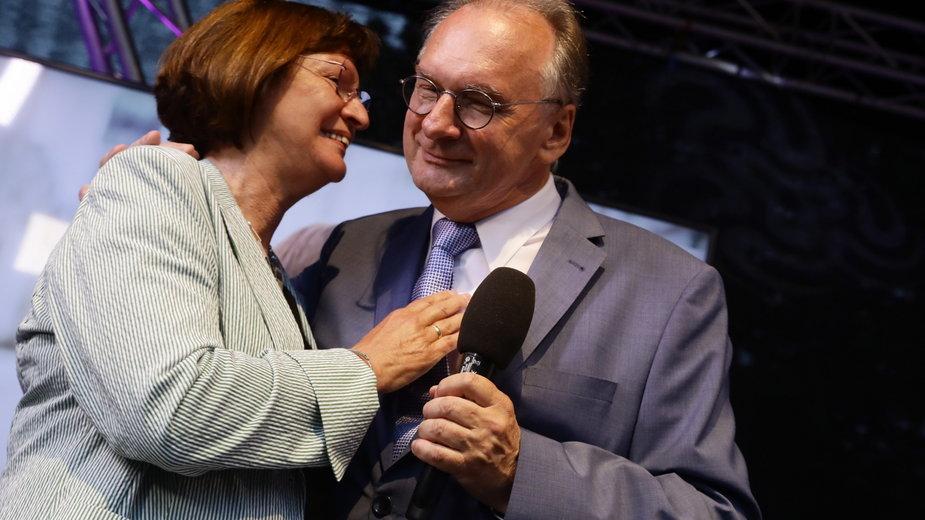 Reiner Haseloff z żoną Gabrielle