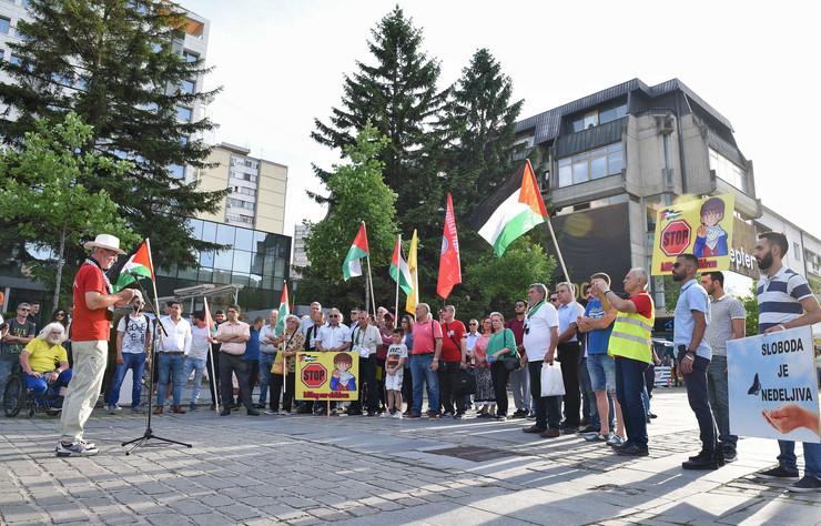 Kragujevac_protest Palestinaca protiv Izraela i Amerike_240518_RAS foto Nebojsa Raus