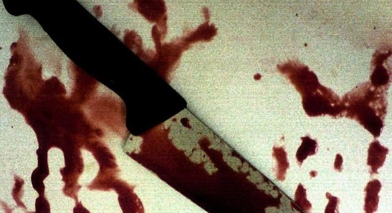 Bloodied knife