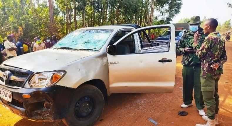 UDA politician Evans Kakai's car pelted with stones in Kabuchai